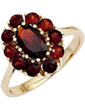 JOBO Damen Ring 375 Gold Gelbgold 11 Granate Goldring