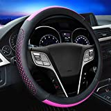 "Universal Fit Leather Car Steering Wheel Cover 38CM/15"" Anti Slip Breathable Protector Heavy"