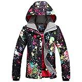 Damen Skijacke warm Jacke gefüttert Winter Jacke Regenjacke Schwarz 9896 M