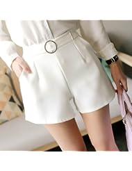 whtll de femmes coréen d'été Largeur de jambe sans Pantalons Pantalons Fine Femme beiläufige Pantalons de surcharge de Les chaudes Pantalons Taille A