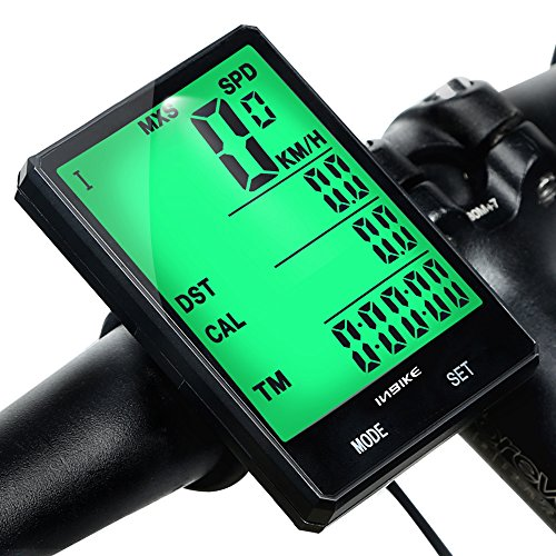 Mishuo Fahrradcomputer GPS Fahrradtacho Kabellos Wasserdicht Kinder Analog Batterie Großes Display Touch Kilometerzähler Tachometer Mountainbike Rennrad (Kabellos)