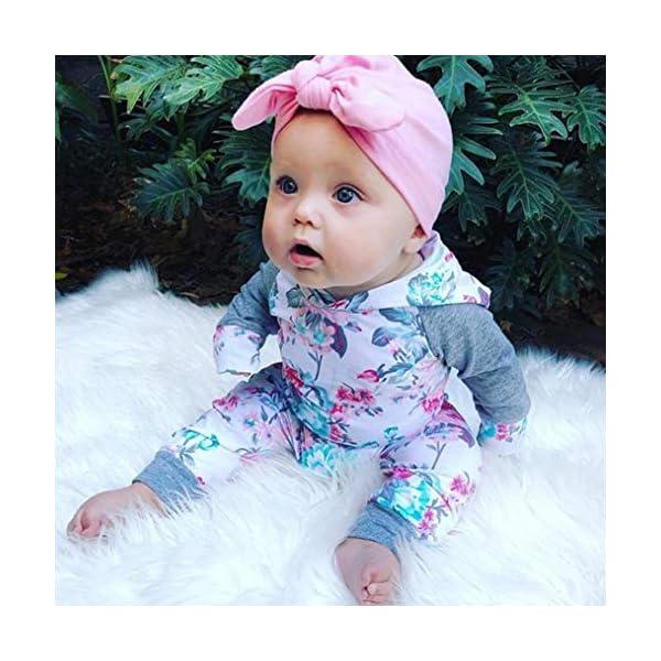 Recien Nacido Bebe Niña Floral Tops con Capucha + Pantalones Conjunto 2 Piezas de Ropa Otoño e Invierno 2