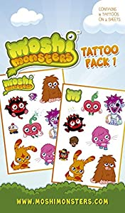 Official Moshi Monsters Temporary Tattoos - Pack 1 (tatuajes temporales)