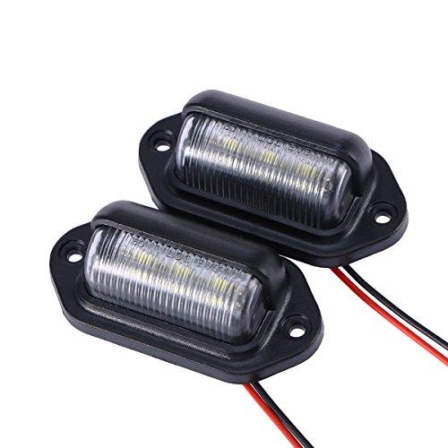 WINOMO 2Pcs Auto LED Kfz Kennzeichen Umbau Licht Convenience Höflichkeit Tür Schritt Lampe