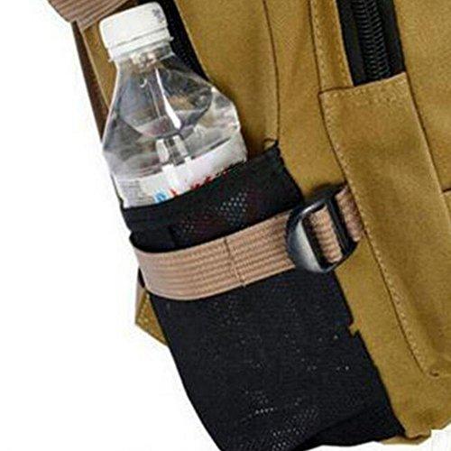 tela tempo libero Maschio / femmina zaino impermeabile indossare Grande capacità zaino 20-35L Può mettere A4 Libri ipad Moda ogni giorno , black darkkhaki