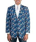 70er Jahre Disco Party Sakko Dots blau