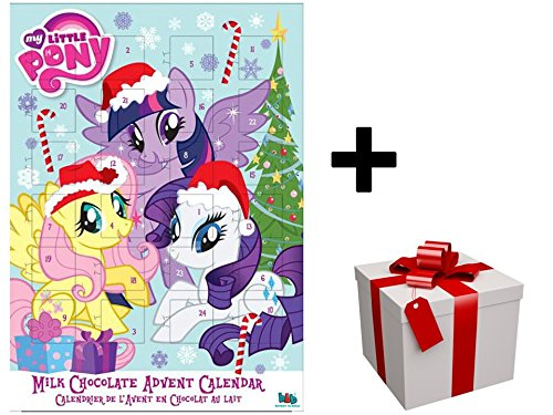 "Nouveau Calendrier de l'avent 2017 ""MY LITTLE PONY/WHITE"" au chocolat au lait PLUS CADEAU SURPRISE"