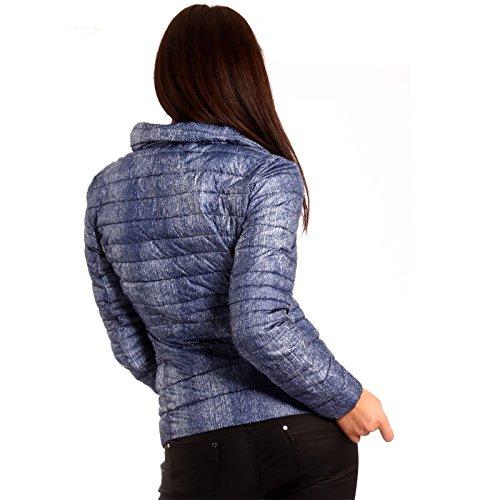 Veste Veste matelassée Transition Veste à capuche Bleu - Bleu