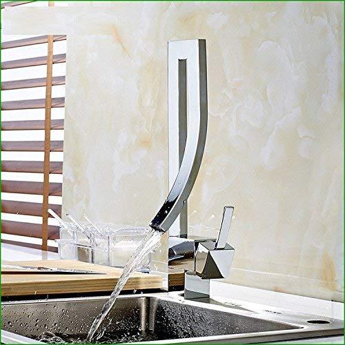 Alle Kupfer Waschbecken heißen und kalten Wasserhahn Fragezeichen Rohr Tür Küche Einlochmontage Individualität Wasserfall Hahn -