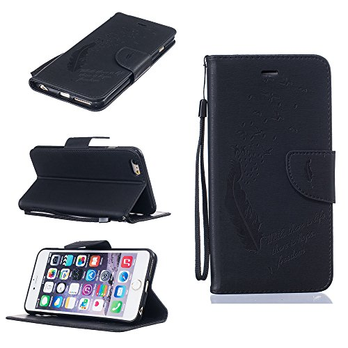 Nutbro iPhone 6S Plus Case, iPhone 6 Plus Case Wallet, Premium PU Leather Flip Folio Carrying Magnetic Protective Shell Wallet Case Cover for iPhone 6 / 6S (5.5) with Kickstand HX-iPhone-6-Plus-46