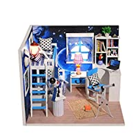 Tianya ♡♡ Wooden Dollhouse Model of Miniature DIY Dollhouse Furniture Toys for Children Gift for Kids