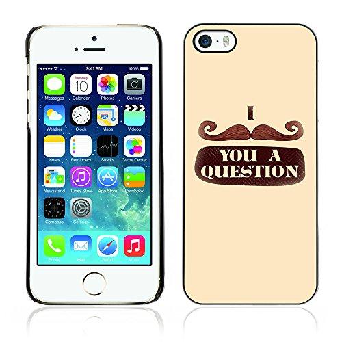 Graphic4You Mustache Schnurrbart Lustig Design Harte Hülle Case Tasche Schutzhülle für Apple iPhone 5 und 5S Design #4