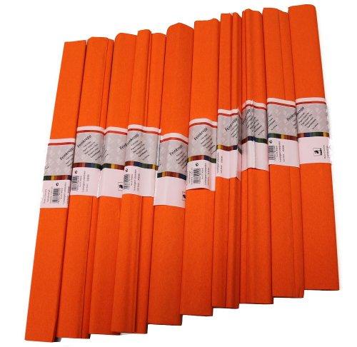 Krepp Papier 50 x 250 cm, verschiedene Farben(orange), 1 Stueck (10 Rolle)