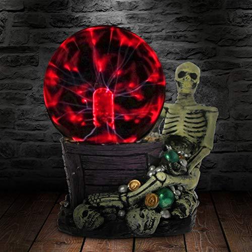 NIXI Tischlampe Greedy Schädel mit Schmuck Horror Beleuchtung Plasma Skeleton Touch Sensitive Statue Desktop Dekorative Neuheit Stimmung Licht Halloween -