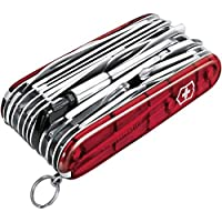 Victorinox Couteau d'officier SwissChamp XLT rouge transparent