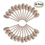24 Stück 10,5cm Honig Dipper, Mini Holz Honig Dipper Sticks für Honig Jar verzichten