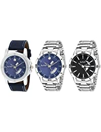 RELISH Day And Date Combo Of 3 Analogue Multicolor Dial Men's Watch - Combo