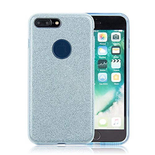 """iPhone X Case, VMAE Full Body Shiny Hybrid Case Soft TPU Hard PC 3in1 Untra Slim Protective Cover Shell for Apple iPhone X/iPhone 10 5.8"""" - SolidPurple SolidBlue"""