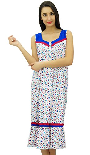 Bimba Mid Calf Nachtwäsche Baumwolle Ärmellos Nursing Night Kleid (Nachthemd Nursing Kleid)