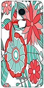 Snoogg abstract floral background Solid Snap On - Back Cover all Around protection For Coolpad Note 3 (White, 16GB)
