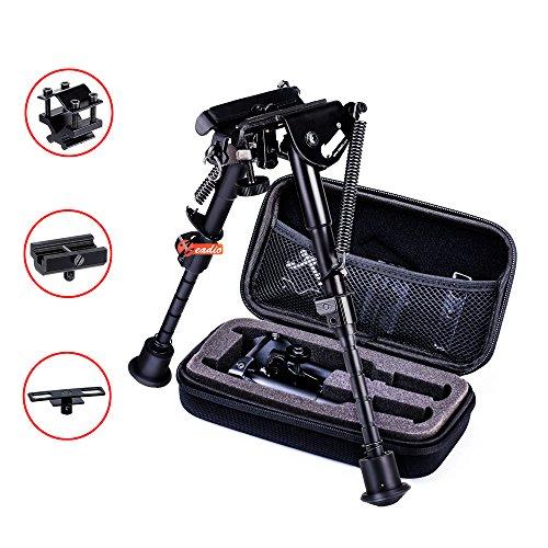 zeadio ausziehbar Zweibein mit Schlinge-Halterung, 3 Adapter und Schutzbox (15 bis 23 cm / 6 bis 9 Zoll)