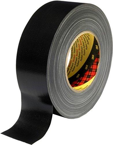 3M 7000111462 Scotch Gewebeklebeband, 389, 75 mm x 50 m, 0,26 mm, Schwarz