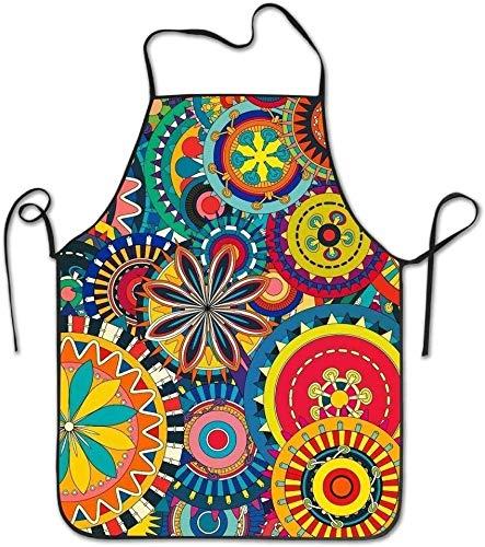 Smbada Hippie-Hip-Hop-Koch Schürzen Leichte Grill-Überhand-Schürze Bereiten Sie Sich für Familien-Frau Dacron vor -