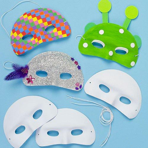 Baker ross mascherine per bambini da dipingere e decorare (confezione da 8)