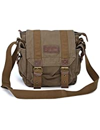 Gootium 21217 Vintage Canvas Messenger Bag Small Shoulder Bag
