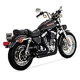 Auspuff Schalldämpfer ShortShots Staggered Vance & Hines schwarzen X Harley Davidson Sportster XL 99–03
