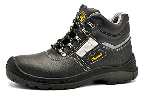 Leather Lace up Comfort Fit Wider Fitting Safety Shoes Boots UK Size...