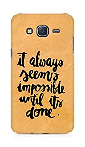 AMEZ it always seems impossible untill its done Back Cover For Samsung Galaxy J5
