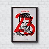 #10: Motivate Box India, Cool, Trendy, Quirky Rolled Posters,David Beckham 23 Real Madrid Design, Add Some Quirkiness to Your Walls (12 x 18 in), Wall Frames are not Included - Only Posters
