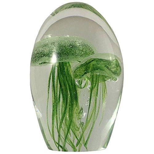 Briefbeschwerer QUALLE Sulfide Glas 10.5cm