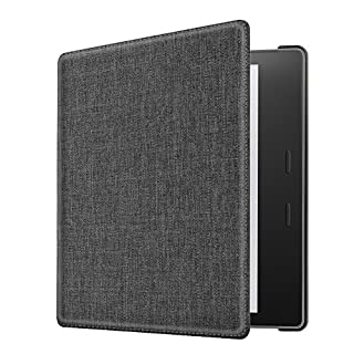 CASEBOT Case for Kindle Oasis (9th Gen, 2017 Release) - Slim Fit Fabric Case with SF Coated Non Slip Matte Finish Back Cover with Auto Wake/Sleep for Amazon All-New 7