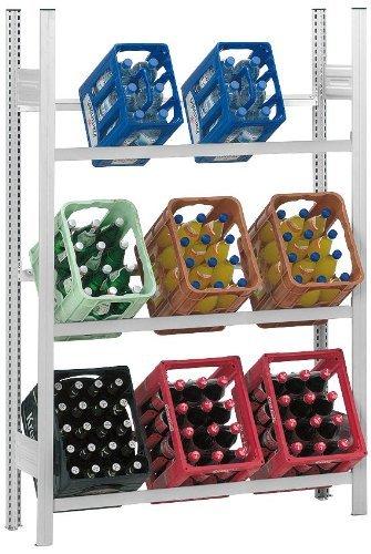 Getränkeregal für 9 Getränkekisten, mit Wandverankerung,