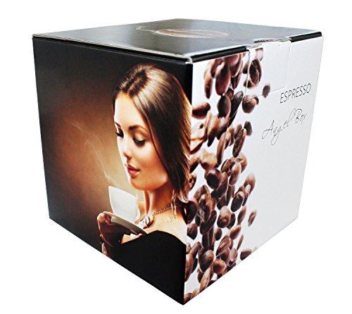 Espresso Angel Box - 6 x 100 g Espresso Deluxe aus der Angel Serie (ganze Bohnen) Geschenk Set - Länder Kaffee aus aller Welt (Jamaika-geschenk-set)