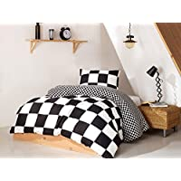 Enlora Home Single Quilt Cover Set Duvet Cover  140 X 200 Cm  Pillowcase  60 X 60 Cm  1 Piece