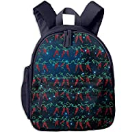 Chili Pepper Glittering Pepper Kid Lightweight Canvas Travel Backpacks School Book Bag