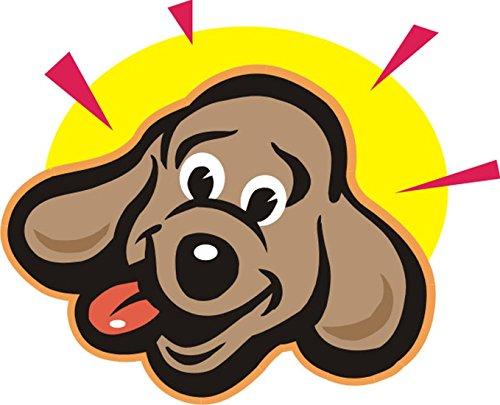 T-Shirt E690 Schönes T-Shirt mit farbigem Brustaufdruck - Logo / Grafik - Comic Design - Portrait von lustigem kleinen Hund im Mondschein Schwarz