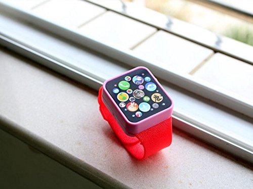 e Uhr Kinder Multifunktions Smartwatch Kinder Kleinkind Handgelenk Touchscreen Spielzeug Digitaluhr (rot) ()