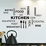 Pegatina de pared vinilo adhesivo decorativo 58x30cm cocina,sala de estar ... de OPEN BUY
