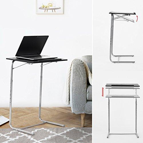 Ordenador portátil escritorio fanilife ajustable diseño plegable mesa para portátil PC Soporte regazo escritorio portátil portátil cuadro negro, color Adjustable Desk
