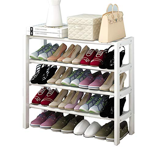 Armoire de Chaussure Multi-Fonctionnelle Peut être superposée en Bois Massif Rack de Chaussures dortoir économie Rack de ménage,82cm