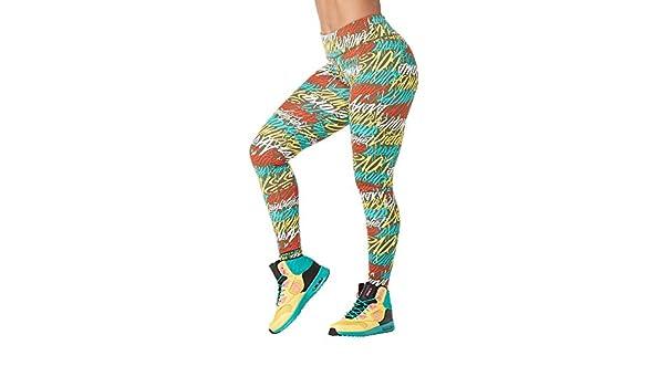 Zumba Legging Basique pour Femme avec r/étention de la Forme et contr/ôle du Ventre