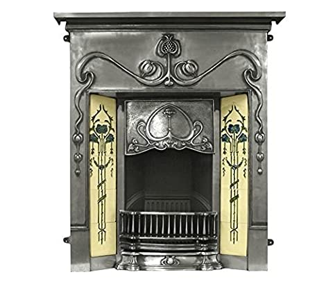 The Valentine Fireplace Combination in Full Polish by Carron, 40 Inch