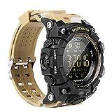 EX16 Camoflauge Estilo militar Reloj deportivo inteligente Bluetooth con rastreador de actividad Pasos de podómetro Contador de calorías Cronómetro 50M Impermeable 1 año de duración Batería Compare co