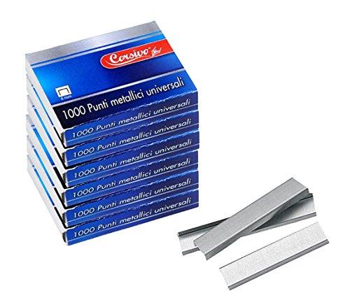 725254 Set de 16 paquets de 1000 agrafes universelles de 6 mm. MEDIA WAVE store ®