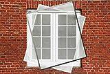 Fliegengitter Fenster Insektenschutz Fliegengitter Spannrahmen 110 x 130 cm in weiß
