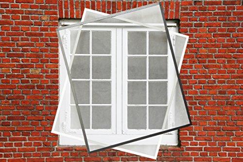 Fliegengitter Fenster Insektenschutz Fliegengitter Spannrahmen 110 x 130 in braun